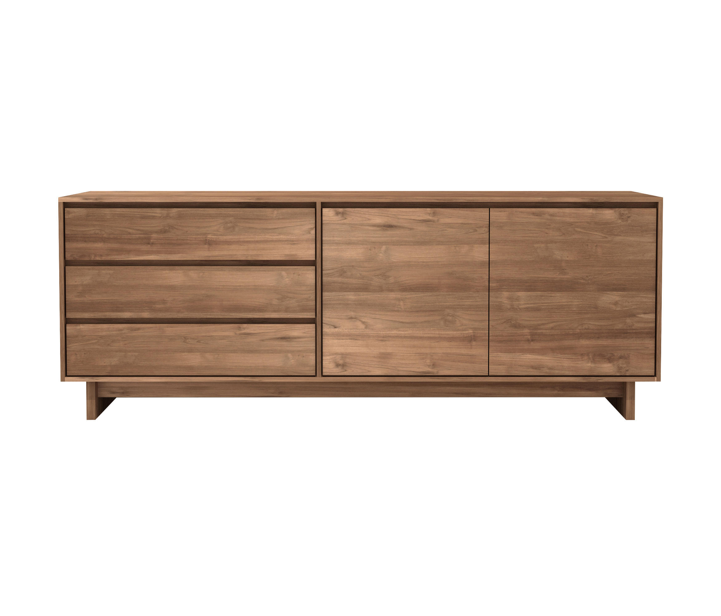 Calhoun Sideboards Regarding Most Recently Released Teak Wave Sideboard – Sideboards From Ethnicraft (View 7 of 20)