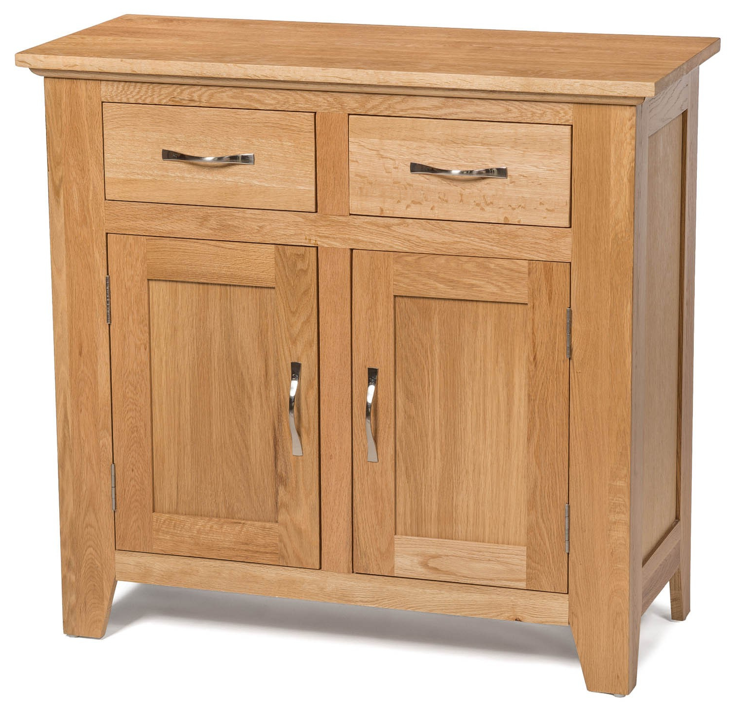 Camberley Oak Small 2 Door 2 Drawer Sideboard – Sideboards & Tops Throughout Preferred Walnut Finish 2 Door/3 Drawer Sideboards (Gallery 8 of 20)