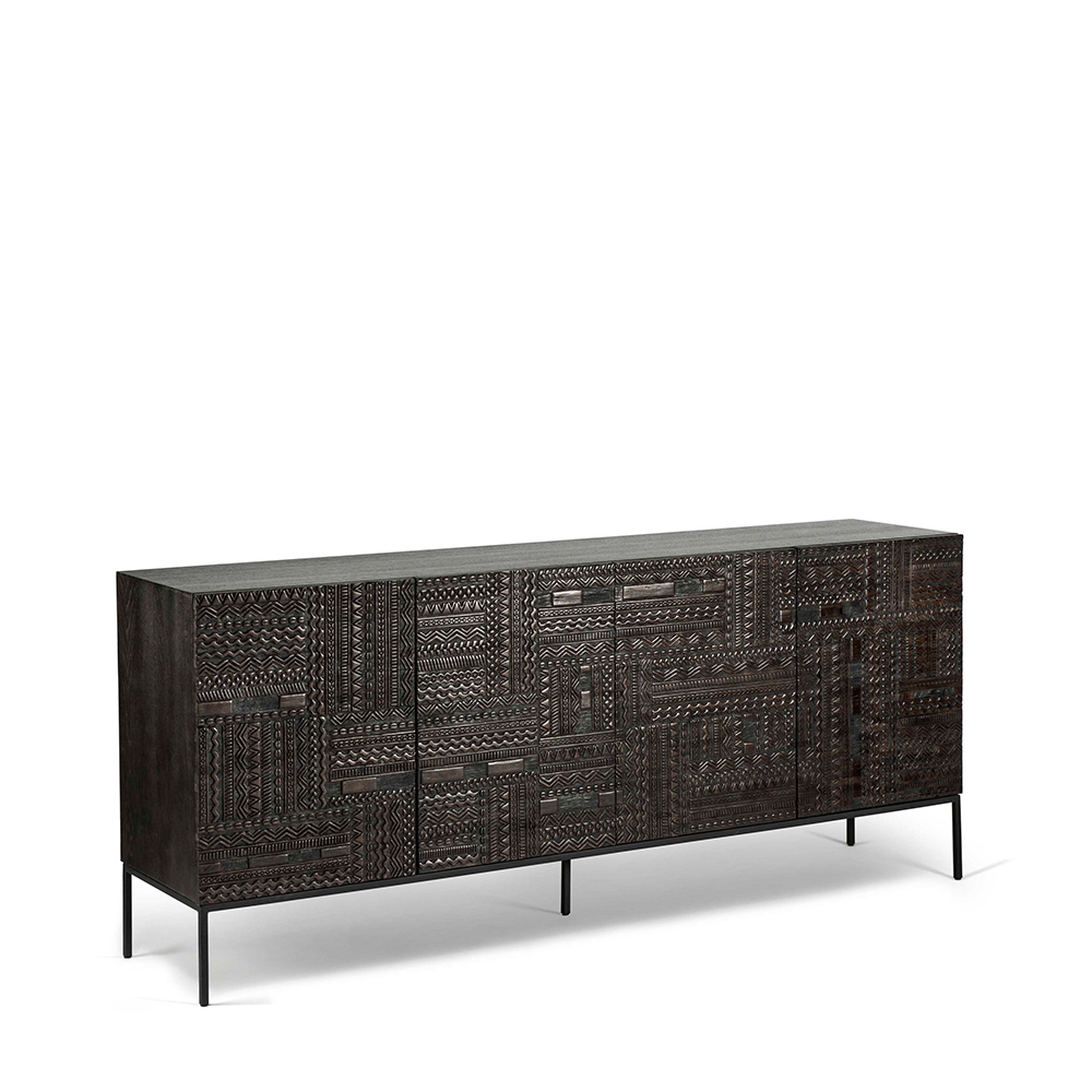 Carved 4 Door Metal Frame Sideboards For Trendy Ancestors Tabwa Sideboard – Ethnicraft (View 3 of 20)