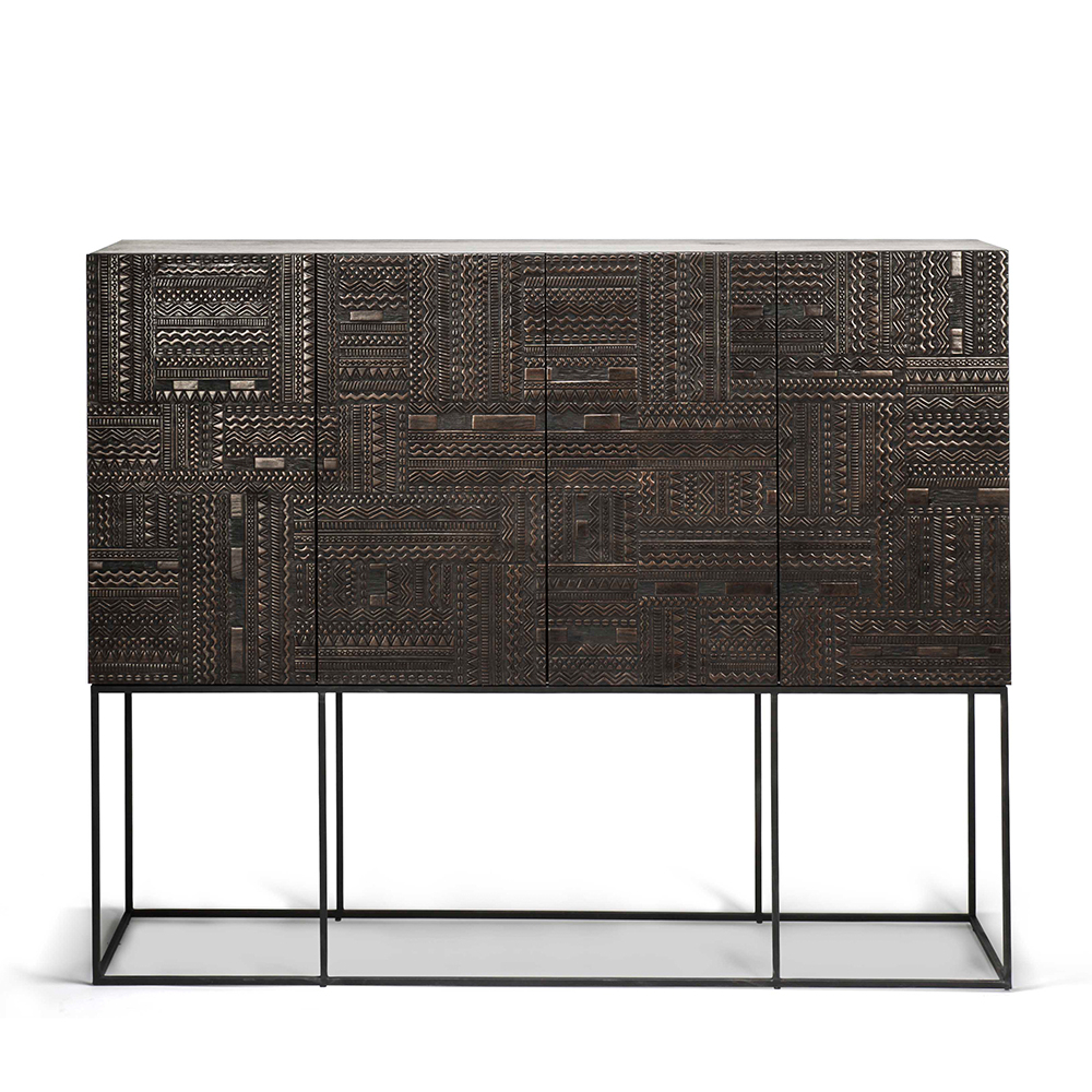 Carved 4 Door Metal Frame Sideboards Within Latest Ancestors Tabwa Sideboard High – Ethnicraft (View 6 of 20)