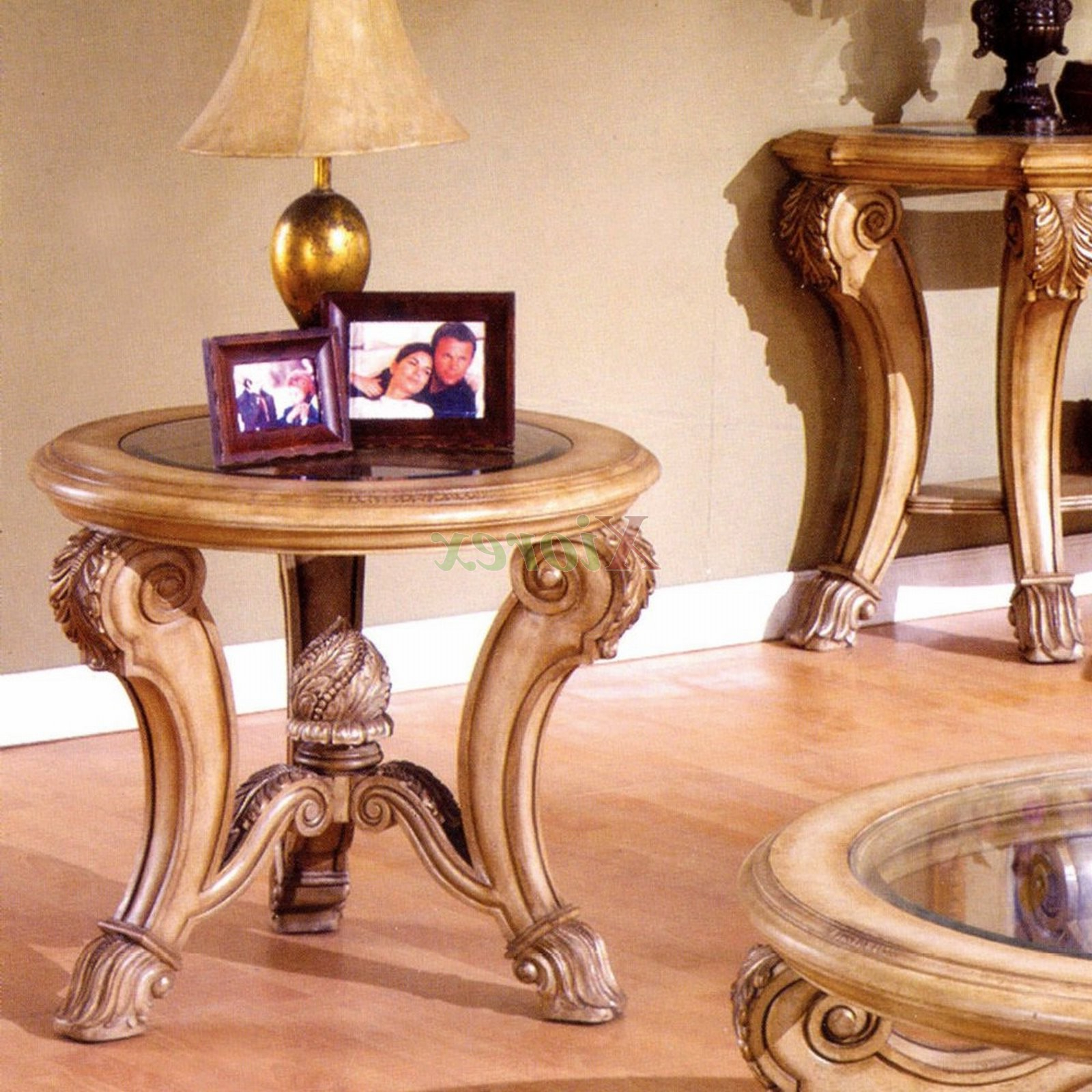 Carved Wooden Round Coffee Table Ideas Corvi Glass Top End Tables Throughout Trendy Round Carved Wood Coffee Tables (View 13 of 20)