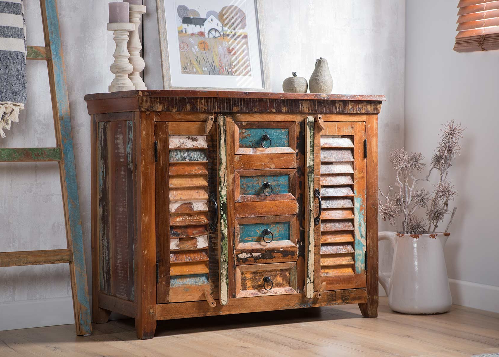 Casa Bella Furniture Uk With Regard To Most Popular Reclaimed Pine Turquoise 4 Door Sideboards (Gallery 15 of 20)
