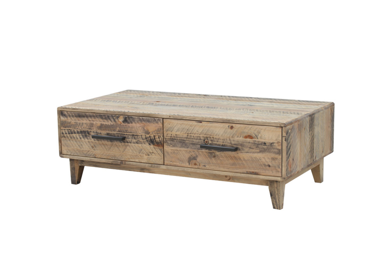 Casablanca Coffee Tables Regarding Most Current Casablanca – Coffee Table With Drawers – Furniture Super Mart (View 7 of 20)