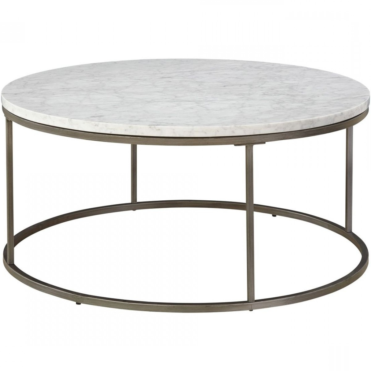 Casana Alana Round Coffee Table With White Marble Top With Best And Newest Parker Oval Marble Coffee Tables (View 2 of 20)