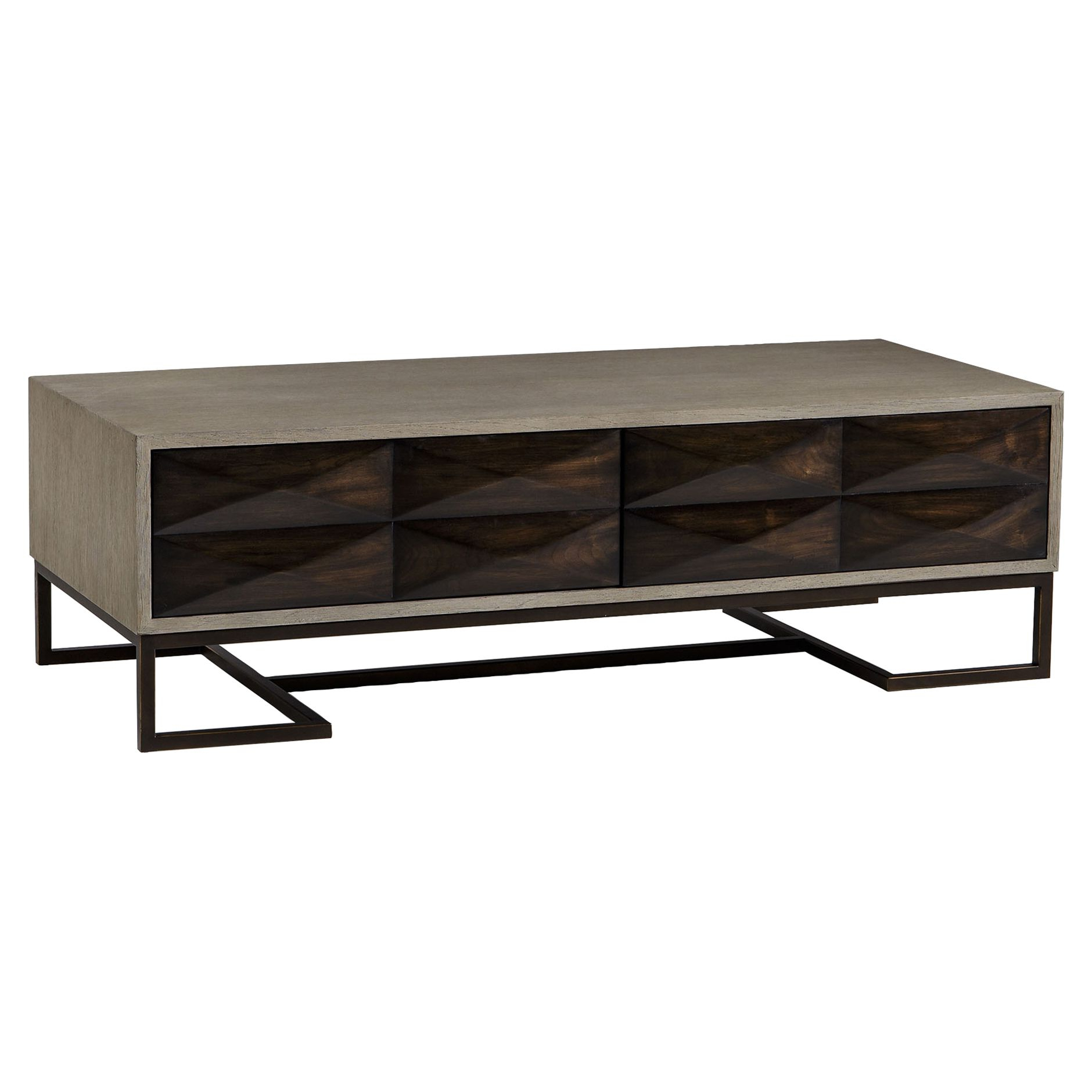 Casey Industrial Loft Open Grey Grain 2 Drawer Cofee Table In 2018 With Regard To Well Known Natural 2 Drawer Shutter Coffee Tables (View 2 of 20)