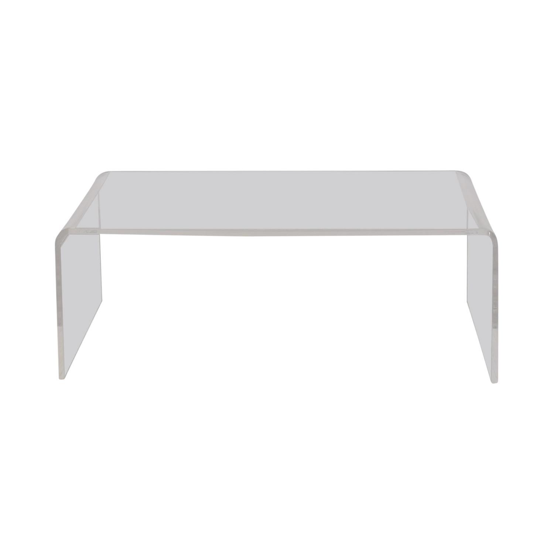 Cb2 Peekaboo Acrylic Coffee Table With Regard To Widely Used Peekaboo Acrylic Coffee Tables (View 2 of 20)