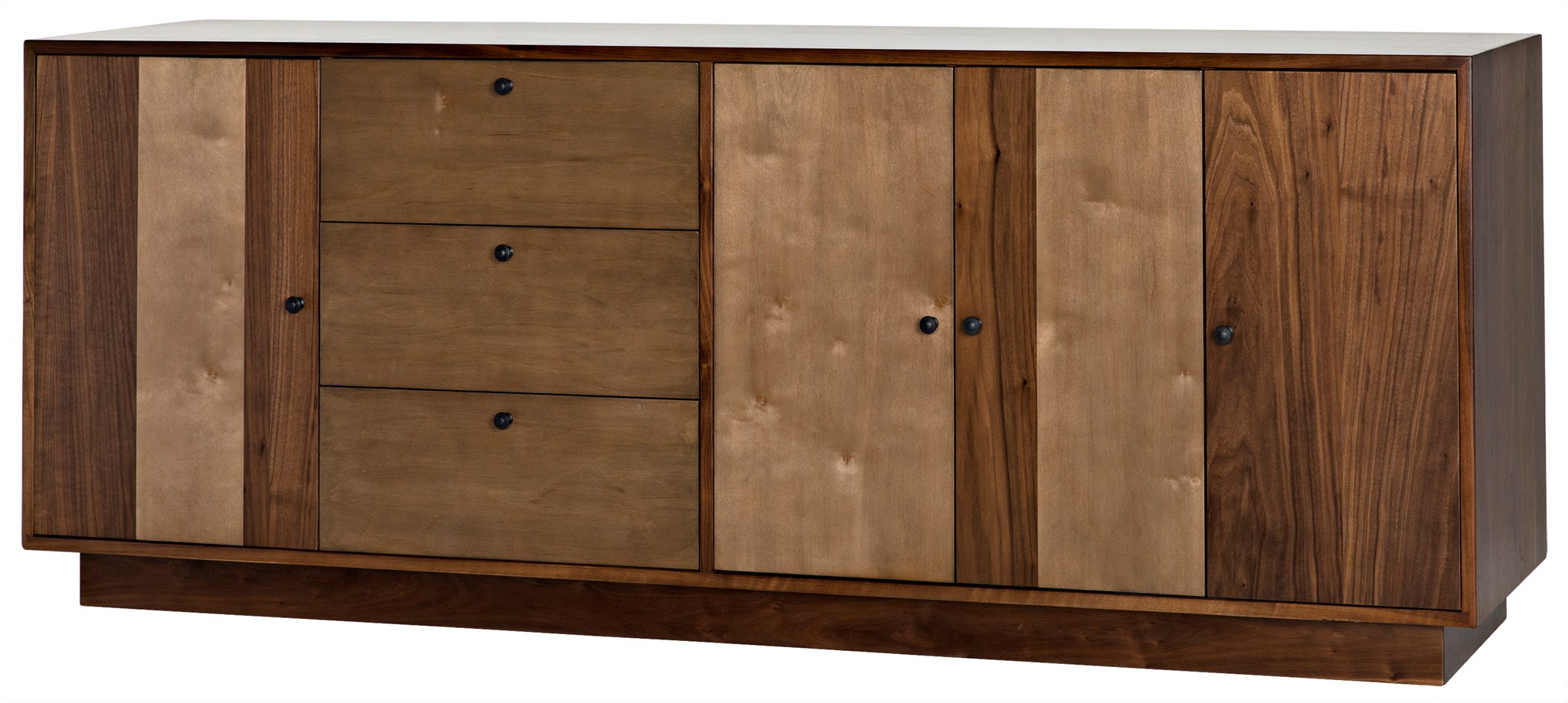 Cfc :: For Preferred Walnut Finish 4 Door Sideboards (View 4 of 20)