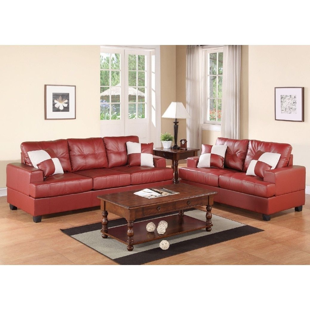 Charter 2 Pcs Sofa Set (red) (View 14 of 20)