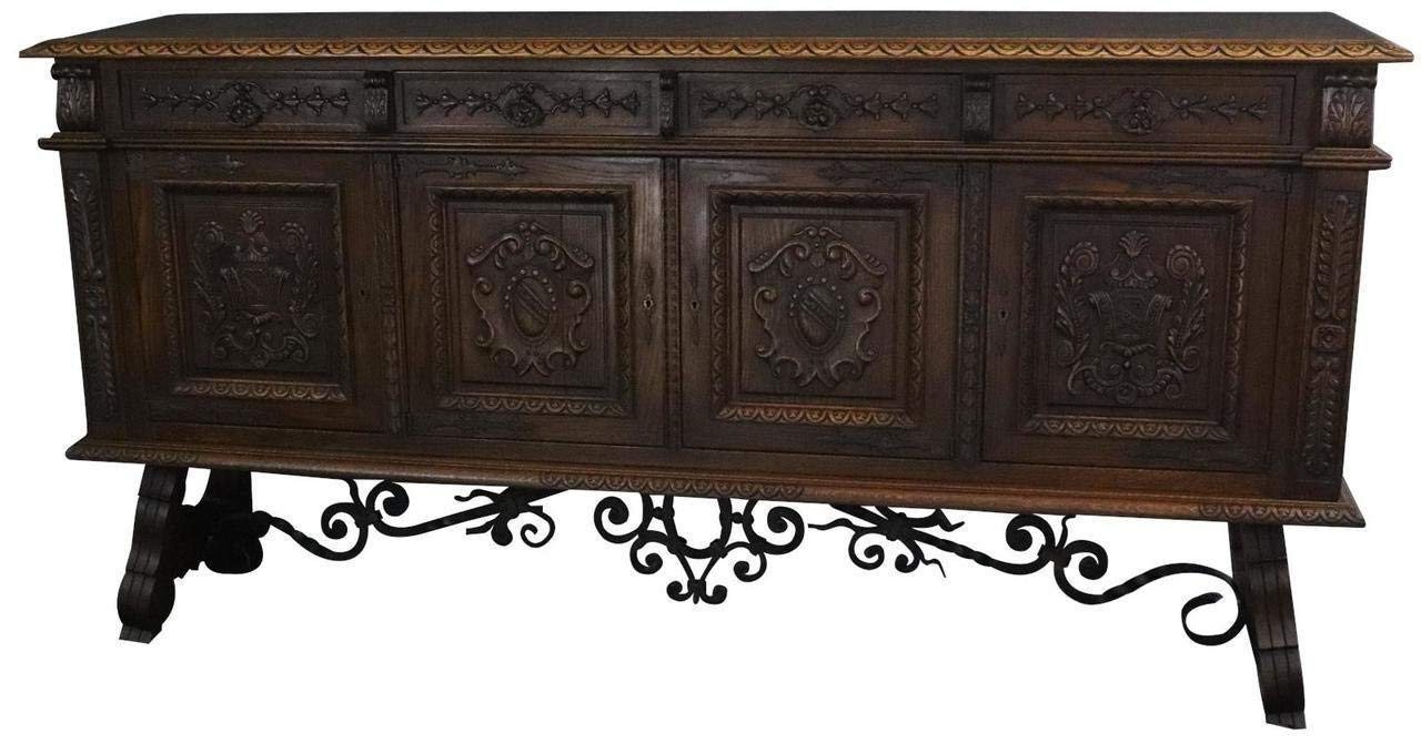 Cheap Carved Oak Sideboard, Find Carved Oak Sideboard Deals On Line Pertaining To 2019 Black Oak Wood And Wrought Iron Sideboards (View 10 of 20)