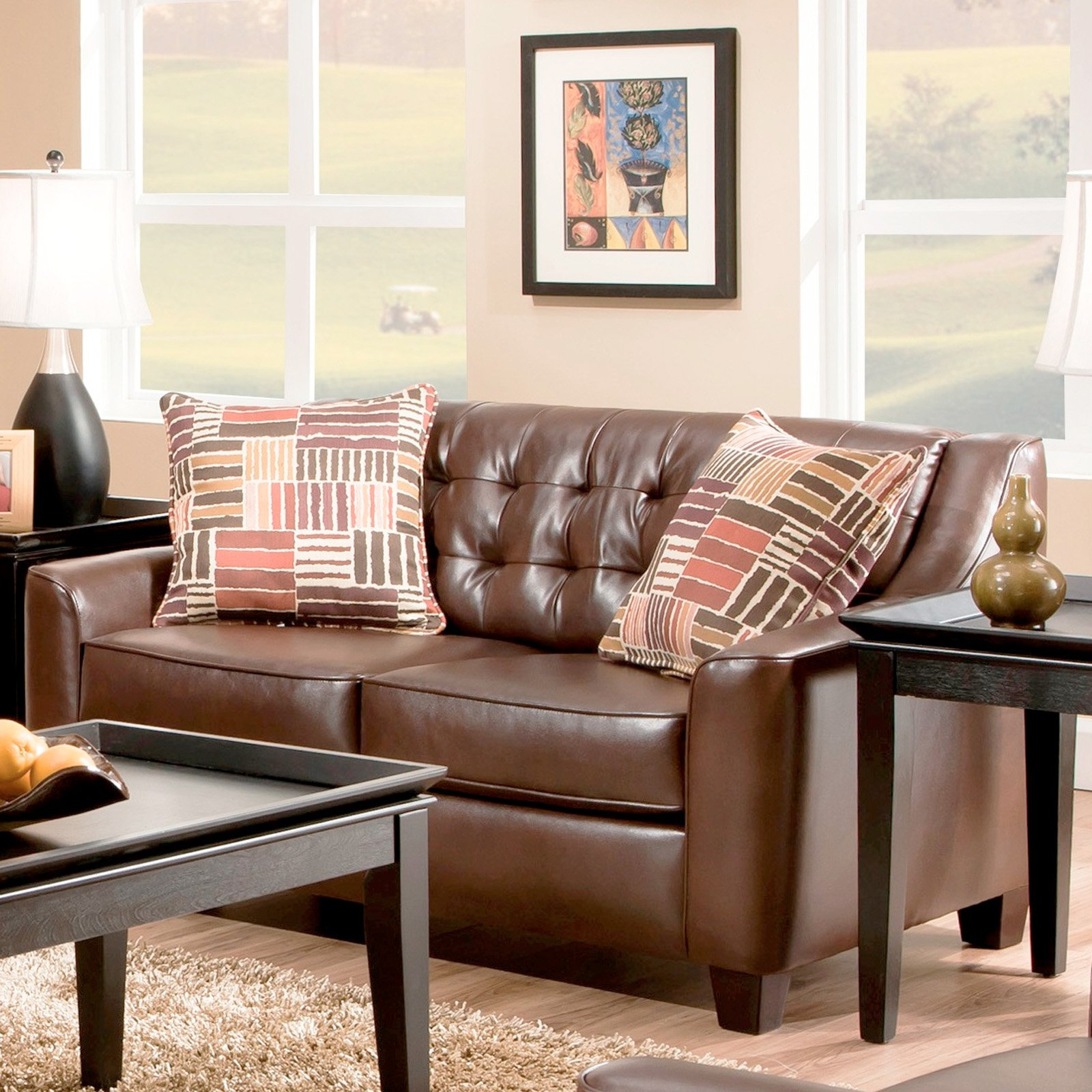 Chelsea Home Furniture Josephine Loveseat – Walmart With Most Recently Released Josephine 2 Piece Sectionals With Raf Sofa (View 15 of 20)