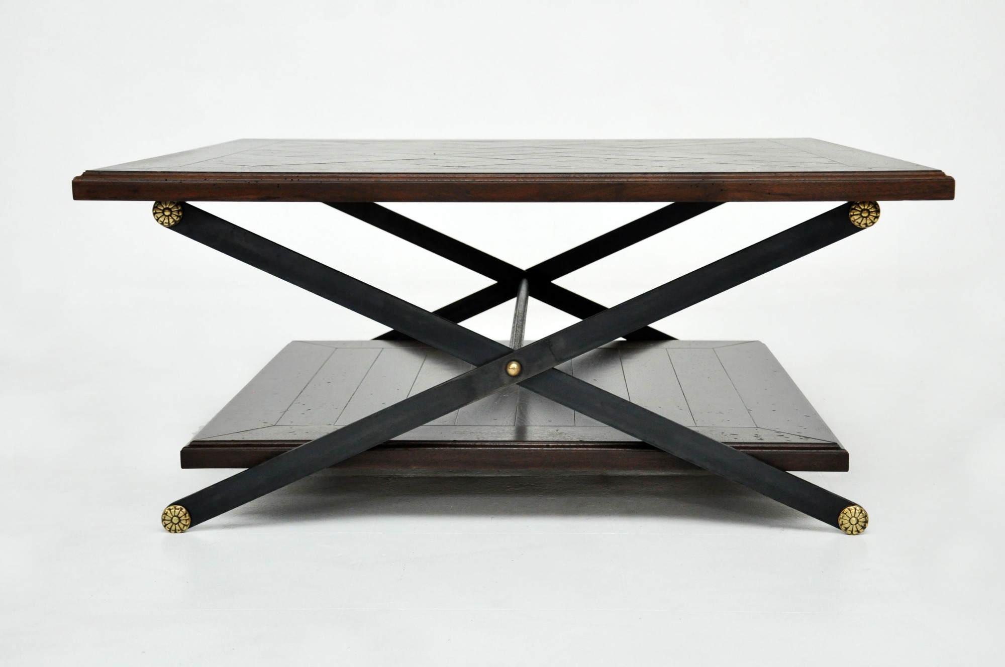 """Chevron 48"""" Coffee Tables With Fashionable Patterned Inlay – Paul Lewin (View 6 of 19)"""
