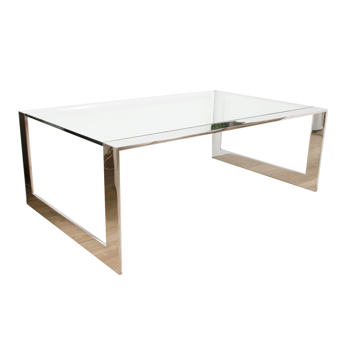 Chrome Waterfall Coffee Table With Glass Top (View 9 of 20)