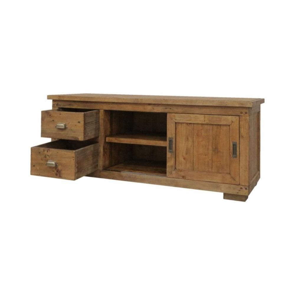 Classic Furniture Camrose Reclaimed Pine Tv Cabinet – 1 Door 2 With Regard To Favorite Reclaimed Pine 4 Door Sideboards (View 14 of 20)