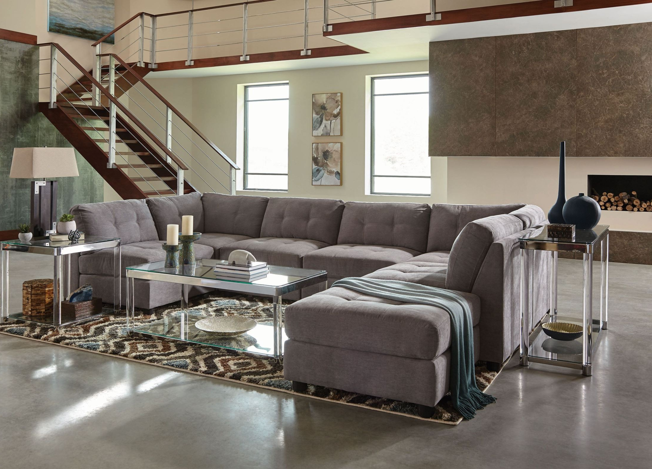 Claude Gray Sectional From Coaster (View 14 of 20)