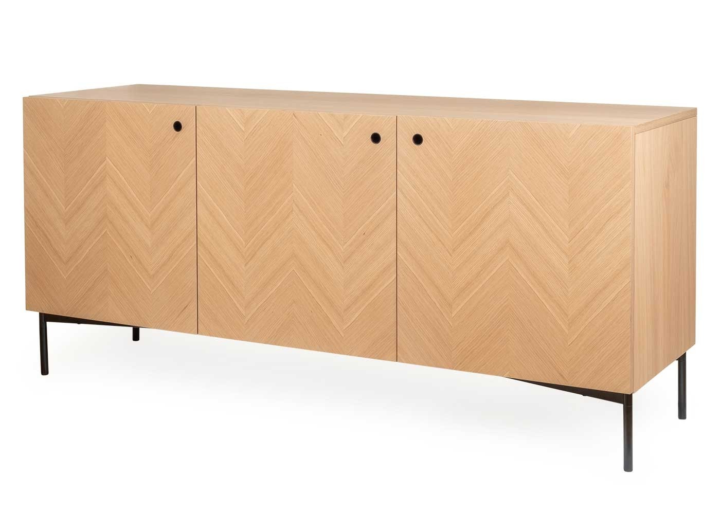 Clifton Sideboard Within 2018 Brown Chevron 4 Door Sideboards (View 10 of 20)