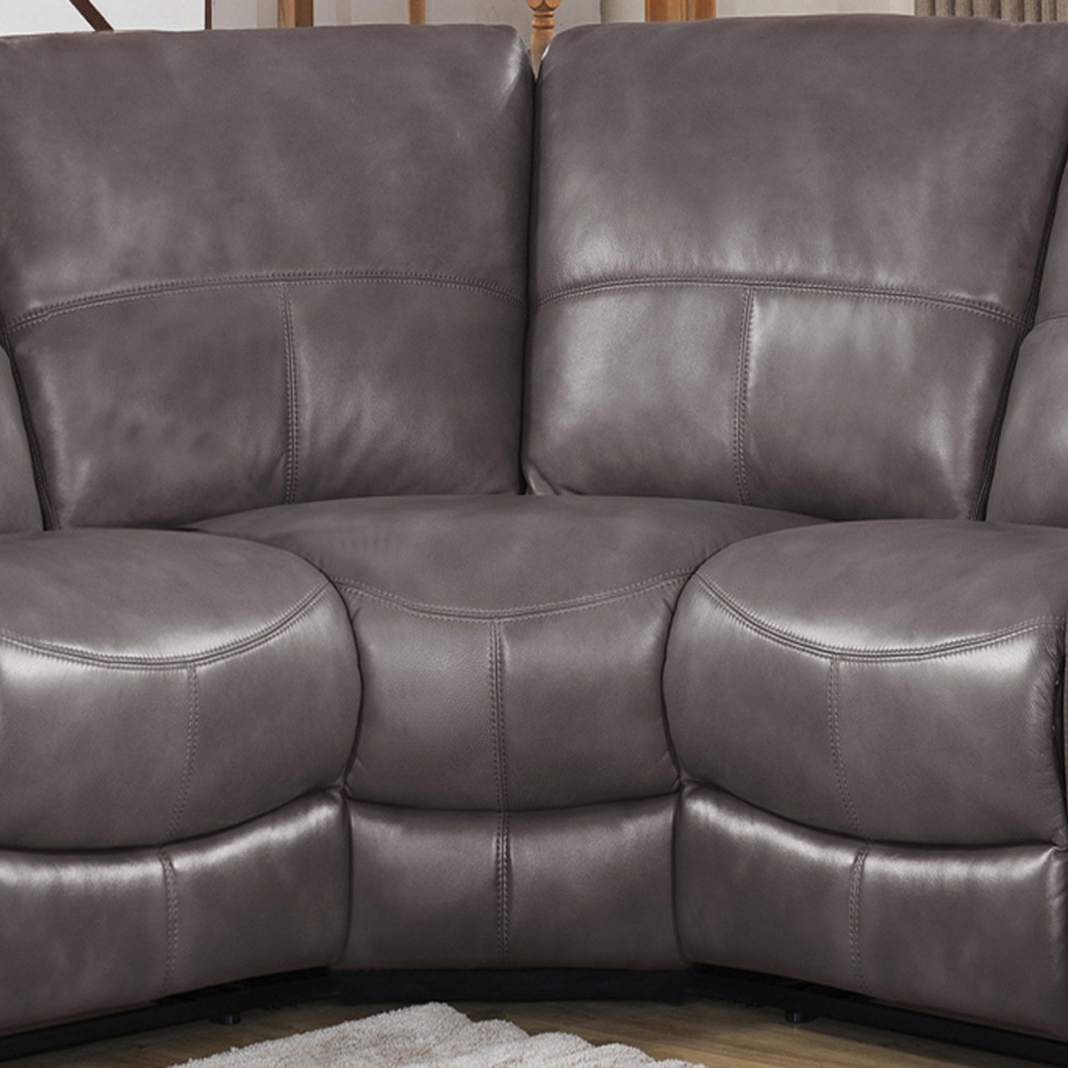 Clyde Grey Leather 3 Piece Power Reclining Sectionals With Pwr Hdrst & Usb In Most Popular Tahoe Premium Top Grain Grey Leather Power Reclining Sectional Sofa (View 4 of 20)