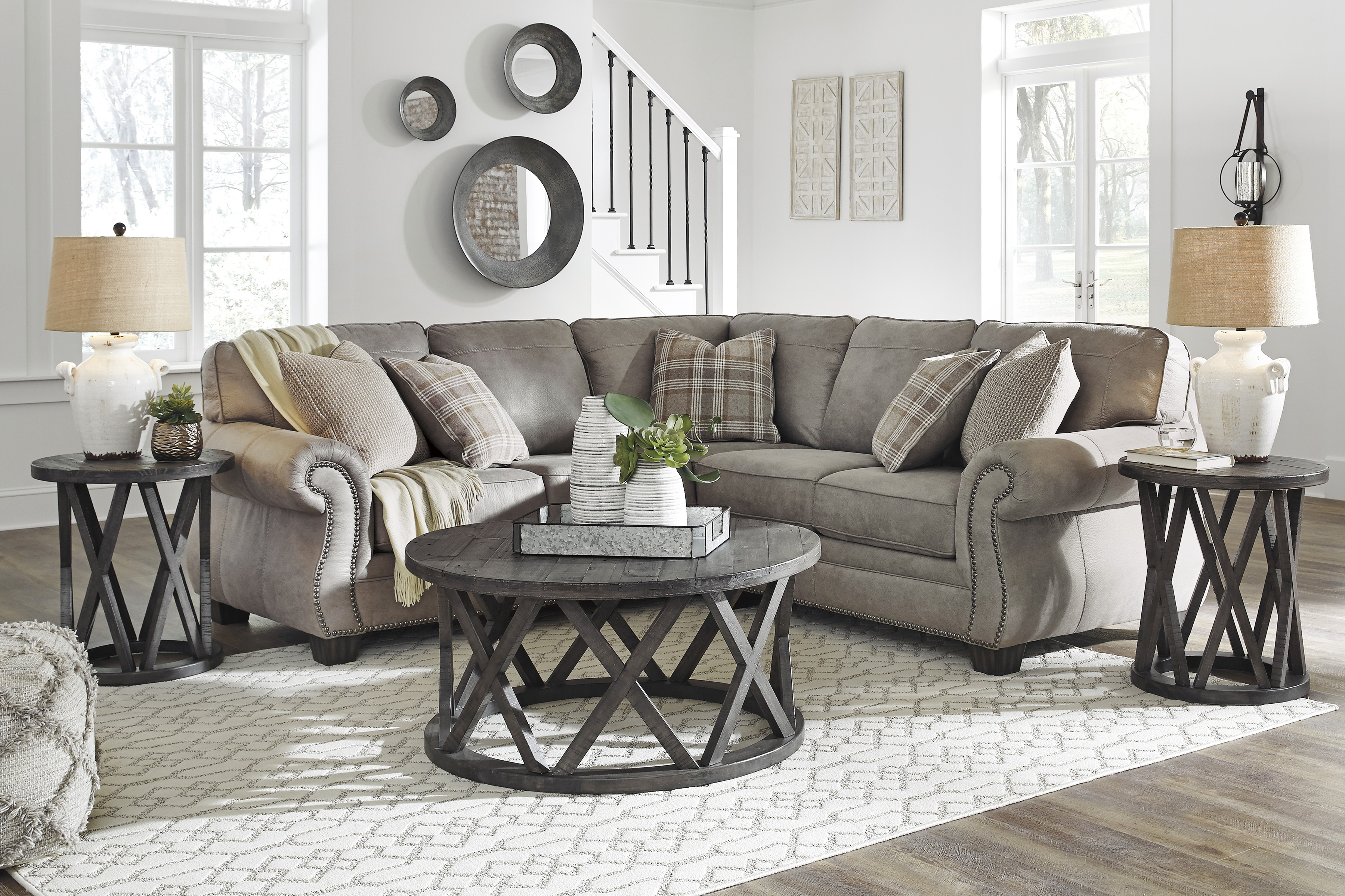 Clyde Grey Leather 3 Piece Power Reclining Sectionals With Pwr Hdrst & Usb With Well Liked Chair Fabulous Three Piece Sectional Sofa Designed – Gotteamdesigns (View 15 of 20)