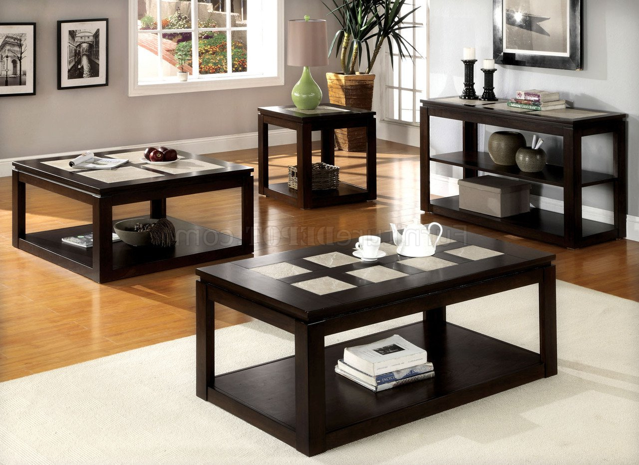 Cm4484 Verona Coffee Table In Espresso W/options Intended For Best And Newest Verona Cocktail Tables (View 3 of 20)