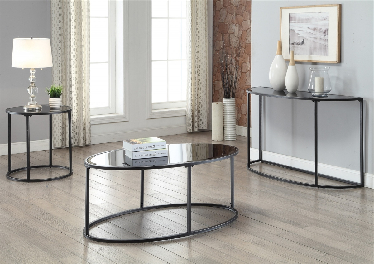 Coaster 704398 Gunmetal Contemporary Coffee Table Pertaining To Favorite Gunmetal Coffee Tables (View 7 of 20)