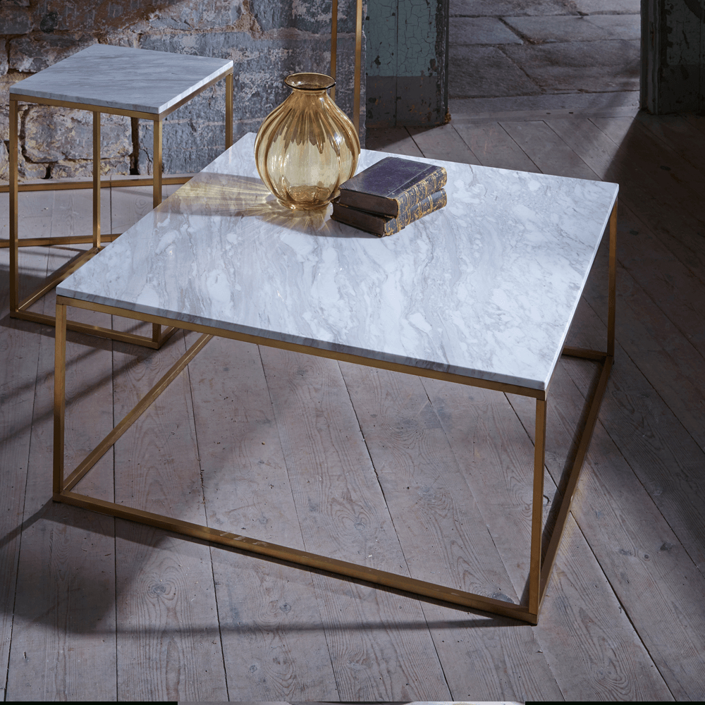 Coffee Table. Beautiful Marble And Brass Coffee Table Ideas: Cool For Famous Modern Marble Iron Coffee Tables (Gallery 7 of 20)