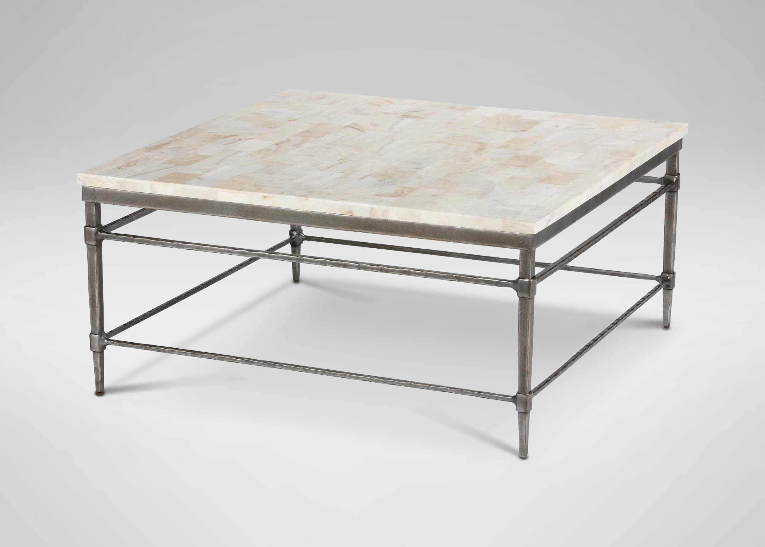 Coffee Tables : Designs Brass And Glass Side Table Stone Coffee Throughout 2019 Stone Top Coffee Tables (View 3 of 20)