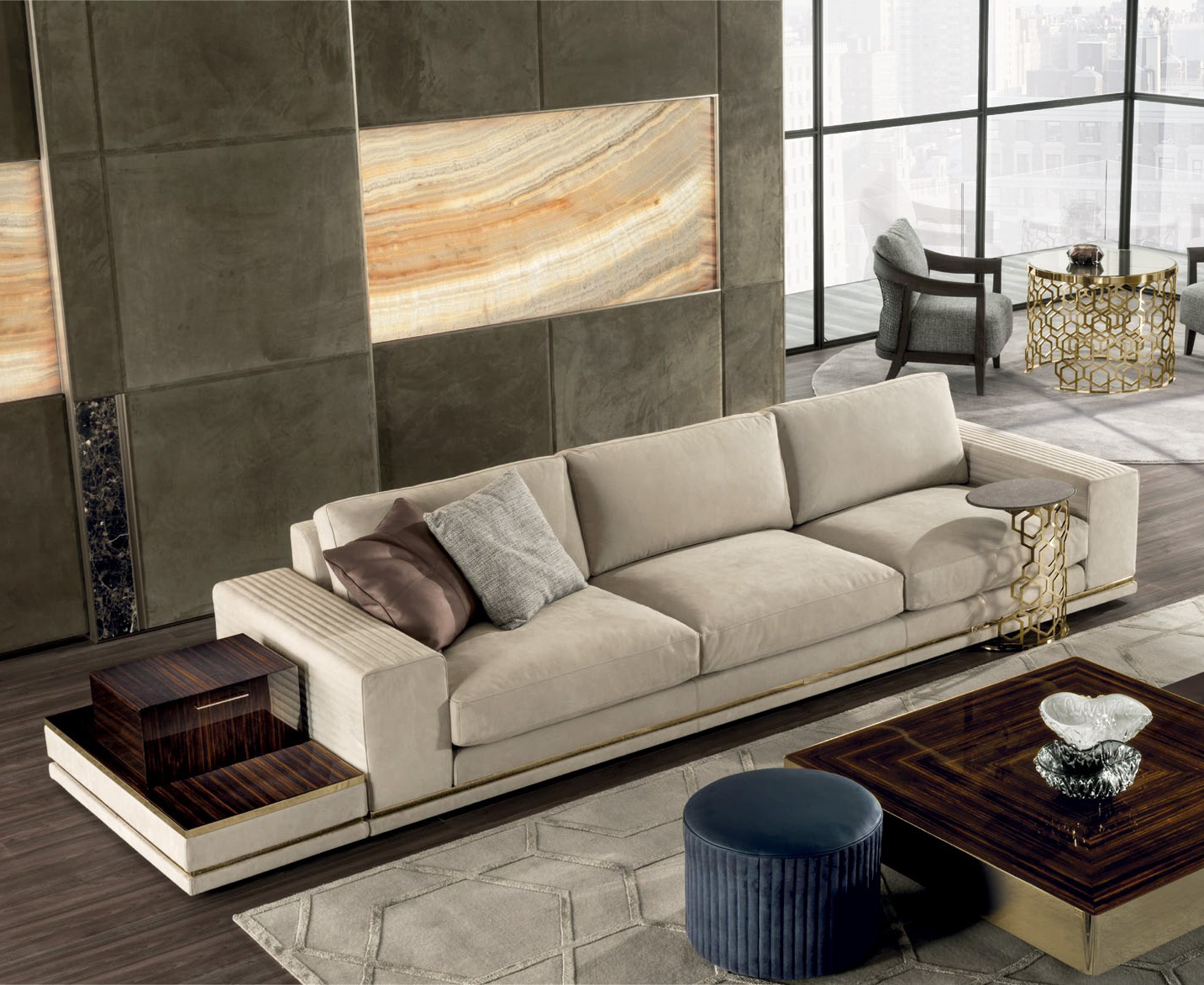 Cohen Down 2 Piece Sectionals Throughout Famous Cohen High End Italian Sofa – Italian Designer & Luxury Furniture At (View 14 of 20)