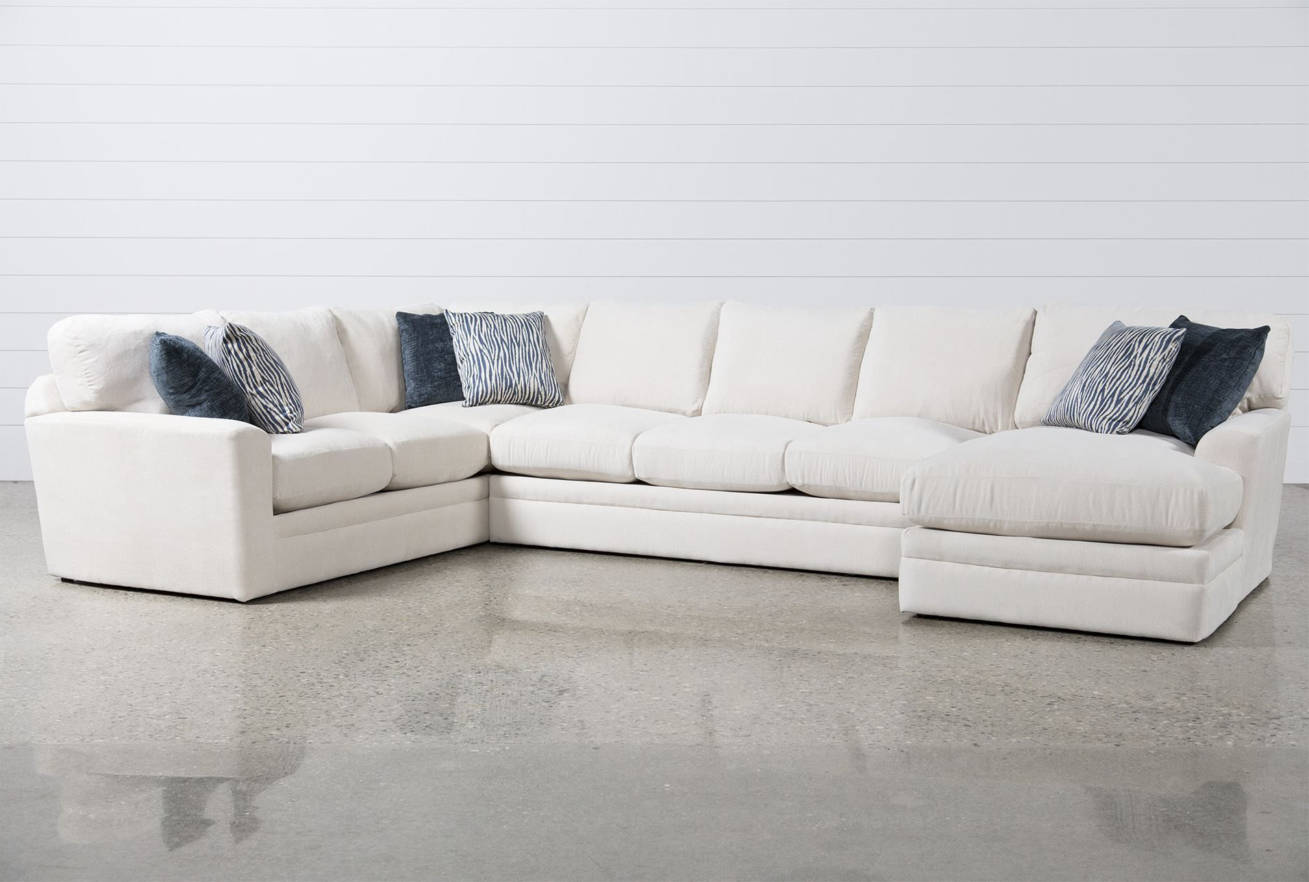 Cohen Down 2 Piece Sectionals Within Popular Glamour Ii 3 Piece Sectional In (View 4 of 20)