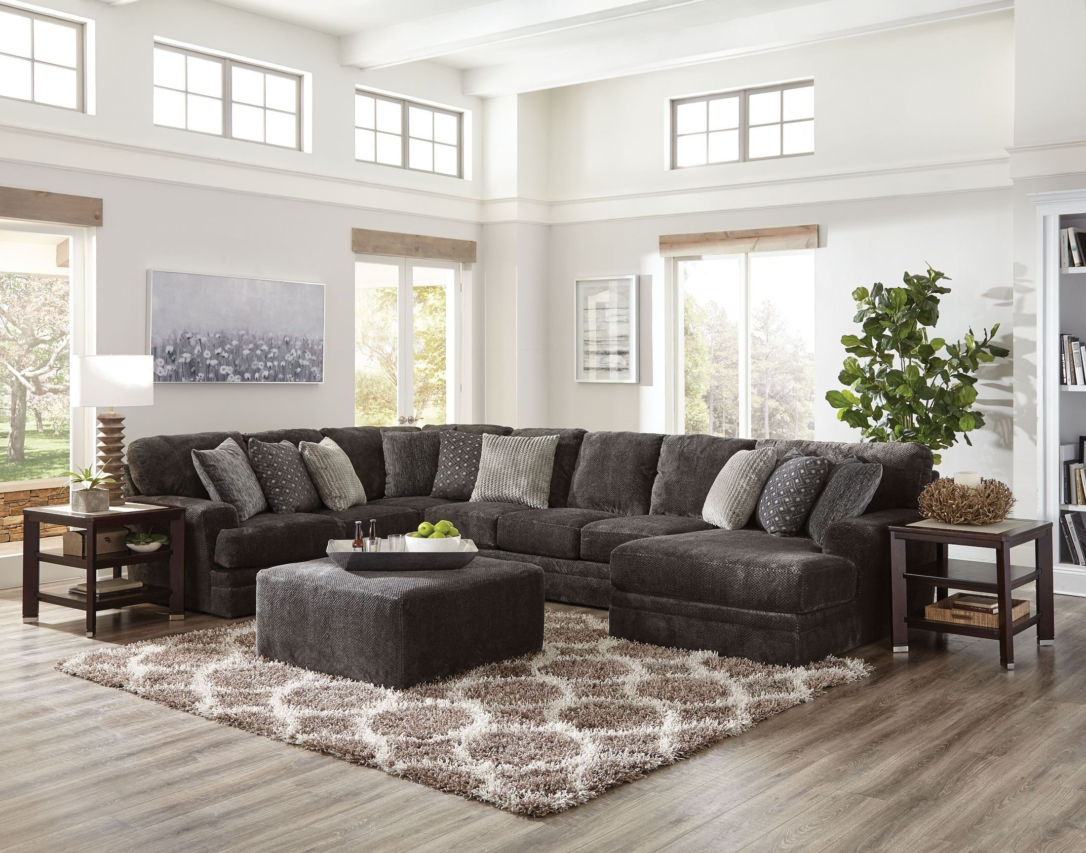 Coleman Furniture Regarding Avery 2 Piece Sectionals With Raf Armless Chaise (View 10 of 20)
