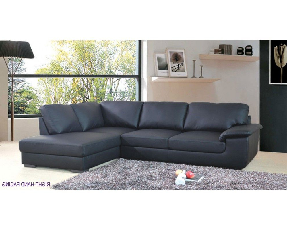 Collingwood Black Leather Corner Sofa £ (View 2 of 20)