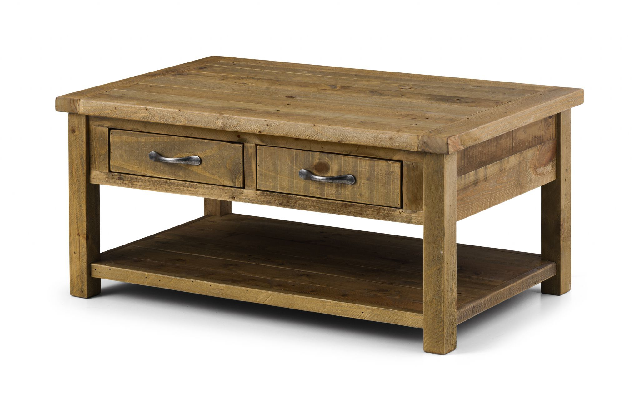 Cordoba Solid Reclaimed Pine Coffee Table With 2 Drawers Jb36 Throughout Famous Reclaimed Pine Coffee Tables (View 11 of 20)