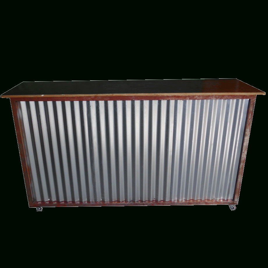 Corrugated Metal Bar – 24 Seven Productions Intended For Most Recently Released Corrugated Metal Sideboards (Gallery 18 of 20)