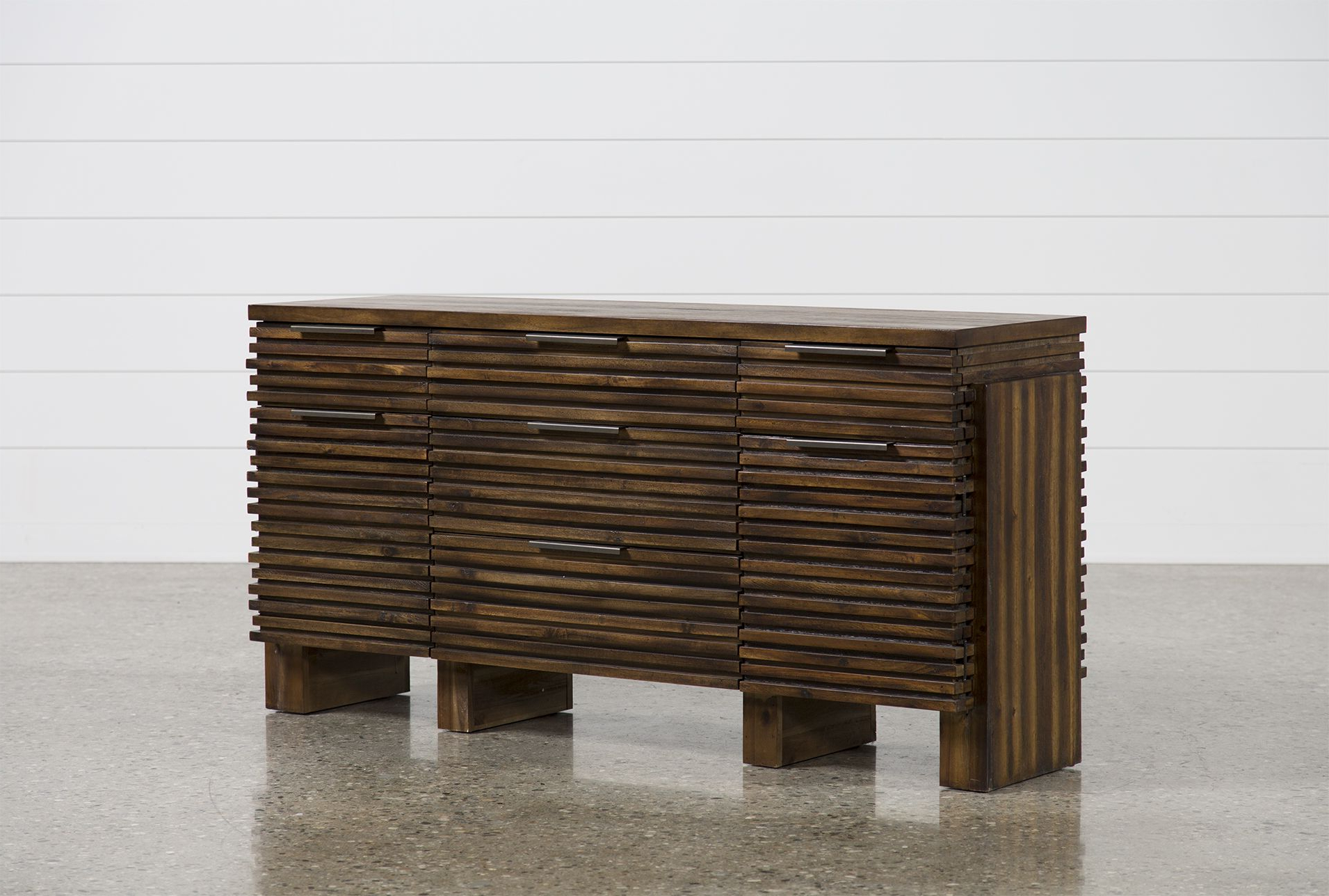 Corrugated Natural 4 Drawer Sideboards Within Popular Teagan Sideboard (View 5 of 20)