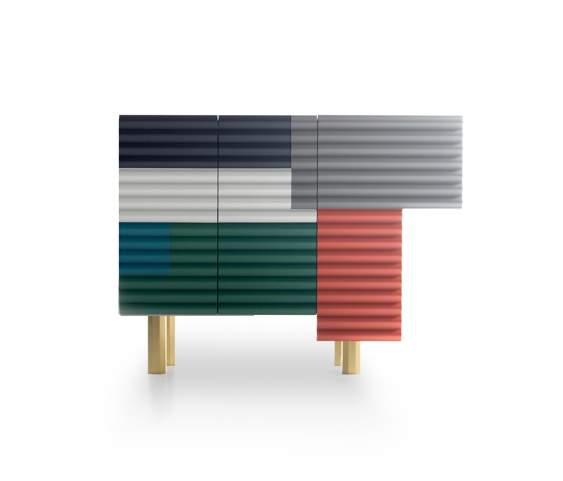 Corrugated Natural 6 Door Sideboards Intended For Famous Shanty Small – Sideboards From Bd Barcelona (Gallery 19 of 20)