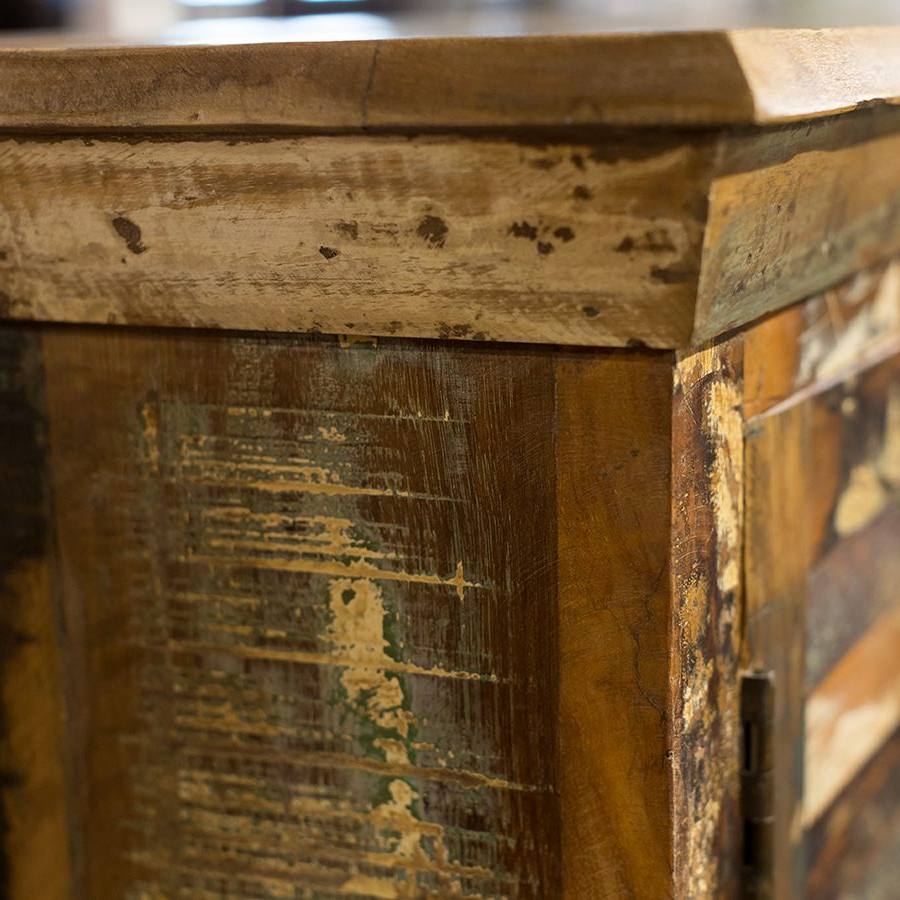 Corrugated Natural 6 Door Sideboards Throughout Most Recent Little Tree Mary Rose Upcycled 6 Door Sideboard (View 5 of 20)
