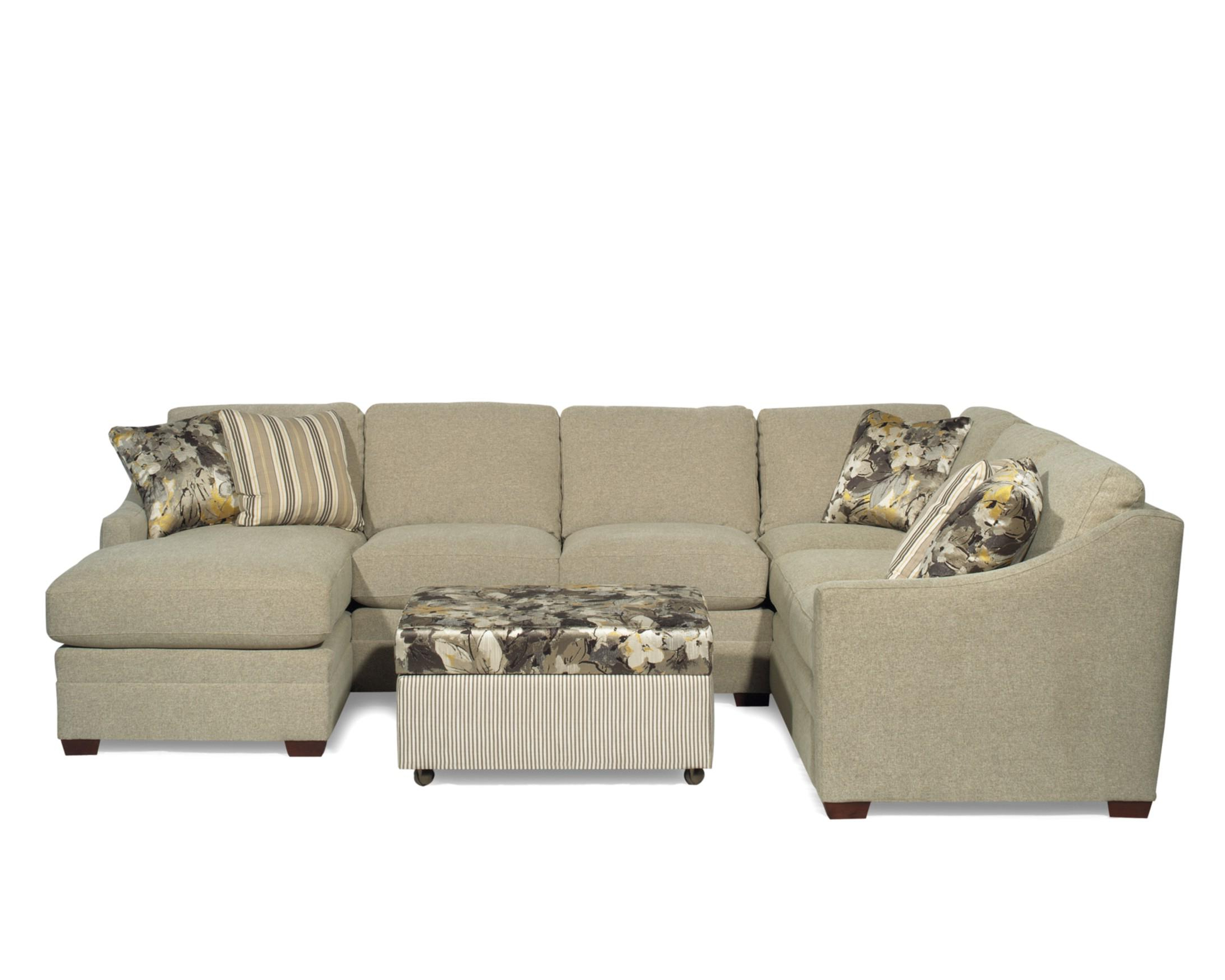 Craftmaster F9 Custom Collection <B>Customizable</b> 3 Piece Inside Popular Avery 2 Piece Sectionals With Laf Armless Chaise (Gallery 19 of 20)