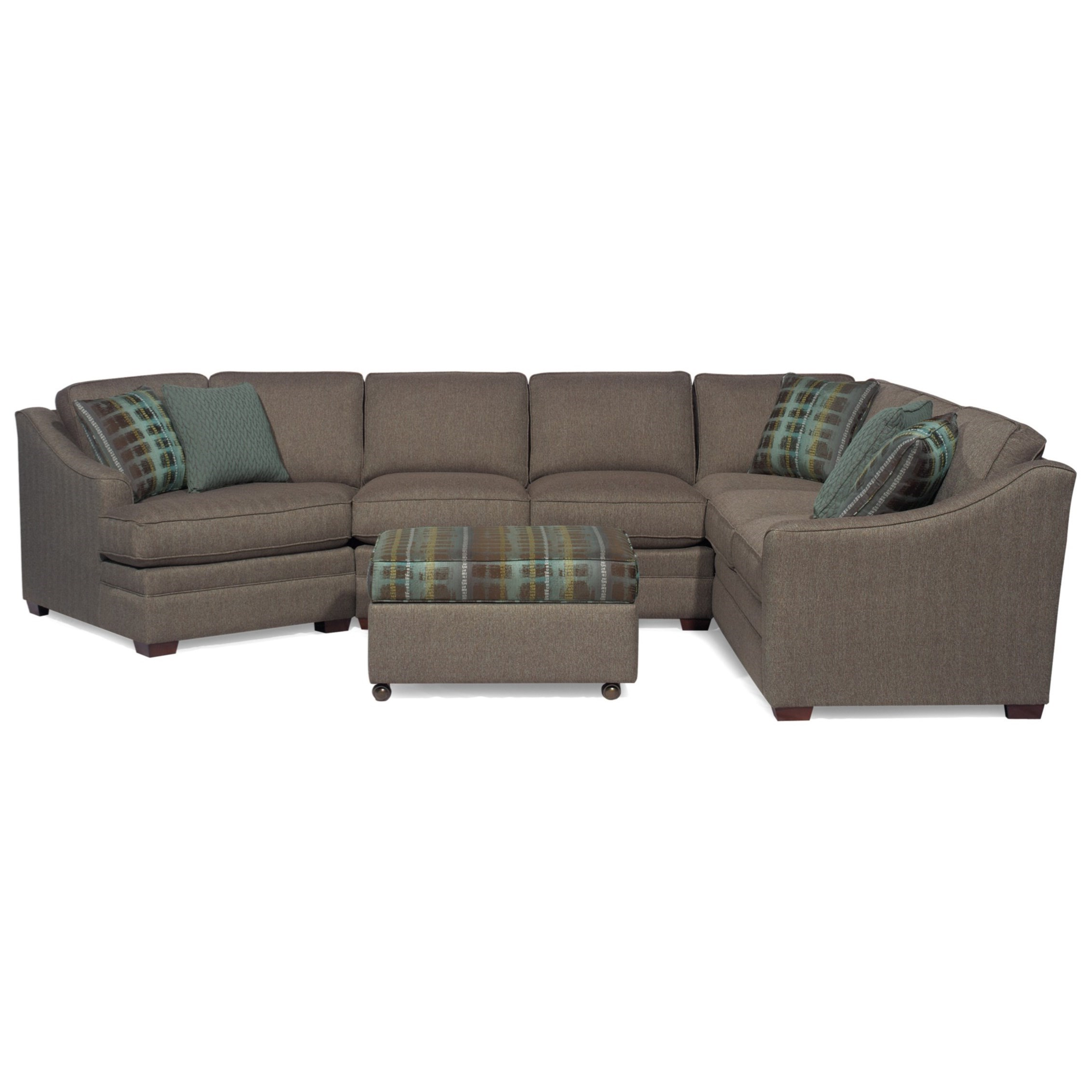 Craftmaster F9 Design Options <b>customizable</b> 3 Piece Sectional With Regard To Preferred Adeline 3 Piece Sectionals (View 16 of 20)
