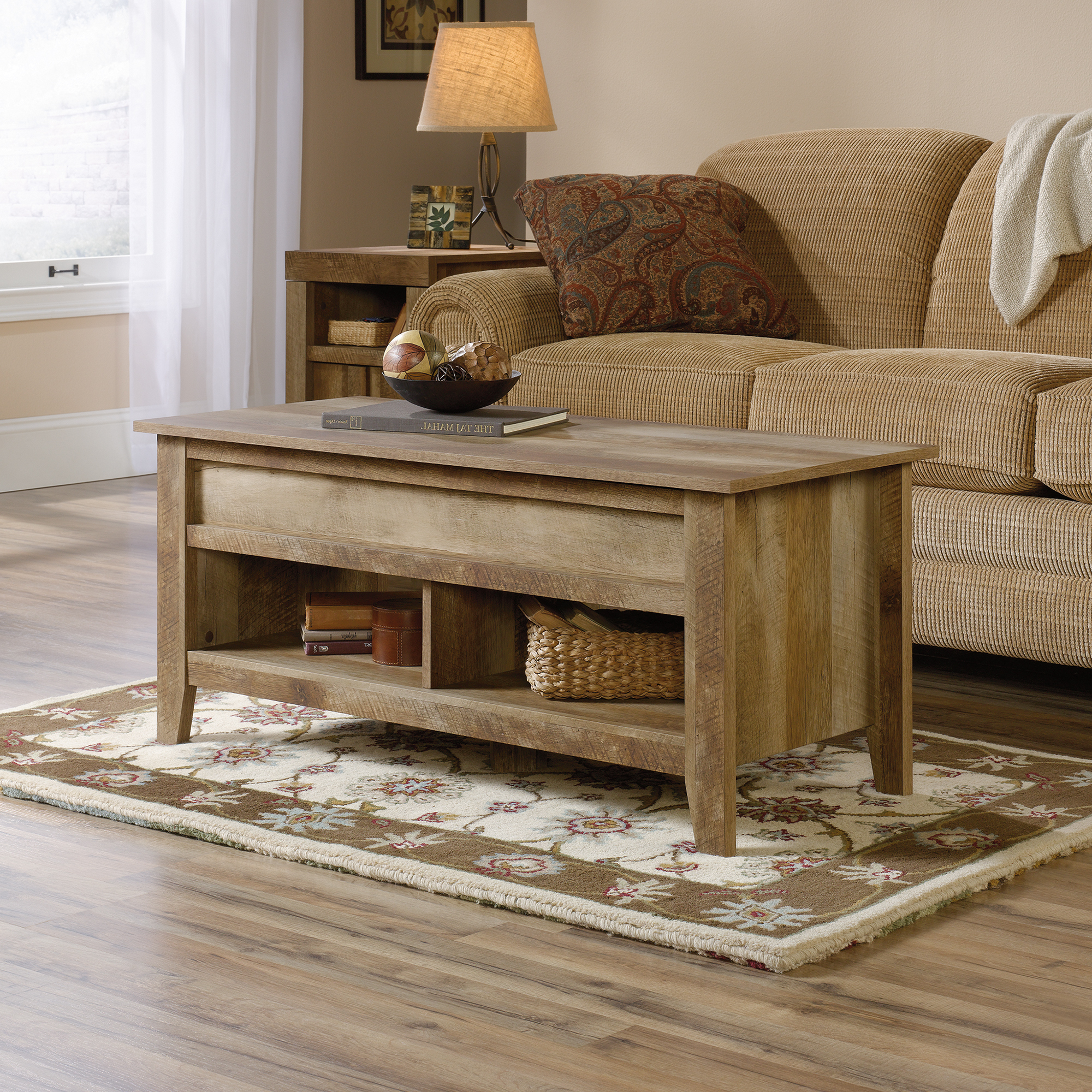 Craftsman Cocktail Tables With Well Liked Dakota Pass Rustic Coffee Table With Lift Top (420011) – Sauder (View 3 of 20)