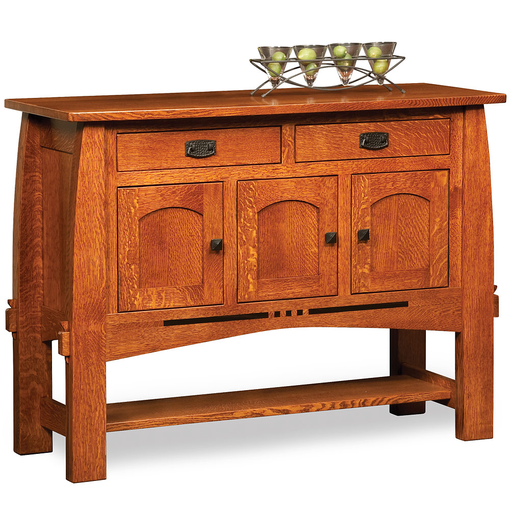 Craftsman Sideboards In Well Known Handmade Mission/arts & Crafts/craftsman Wood Kitchen Buffet Table (Gallery 7 of 20)