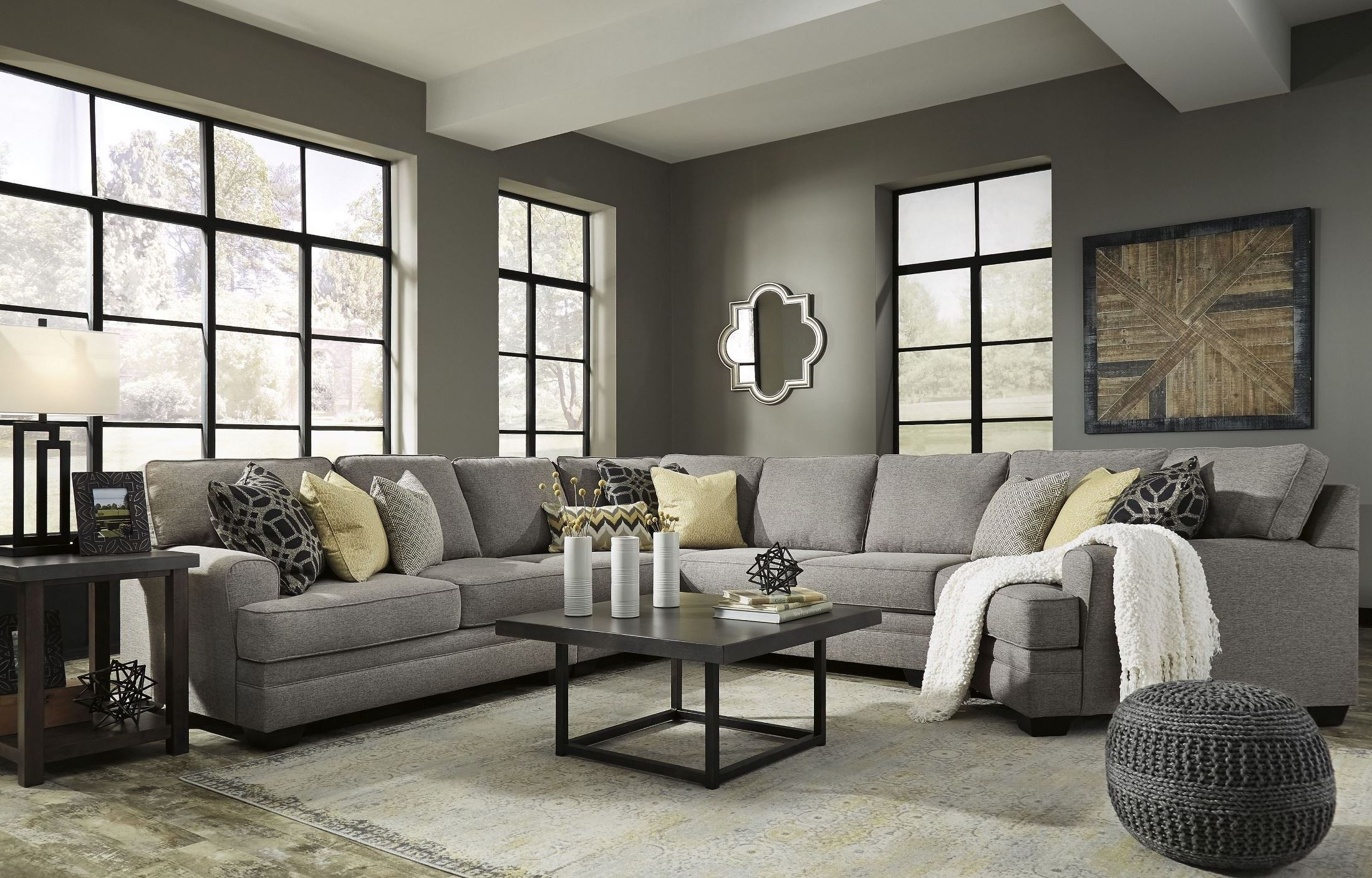 Cresson Pewter Laf Cuddler Sectional From Ashley (View 10 of 20)