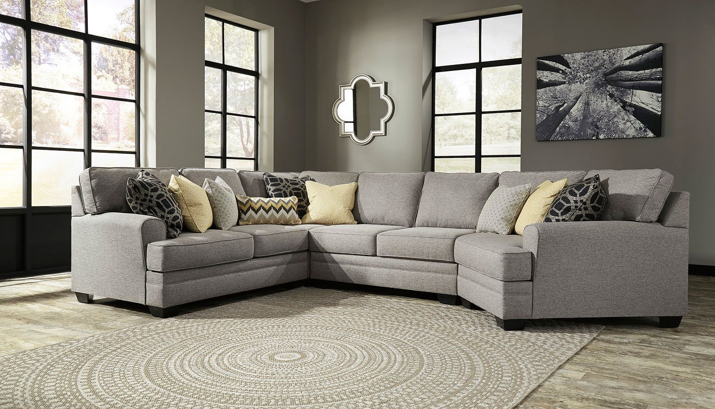 Cresson Pewter Modular Sectional – Living Room Furniture – Living Within 2019 Josephine 2 Piece Sectionals With Raf Sofa (View 18 of 20)