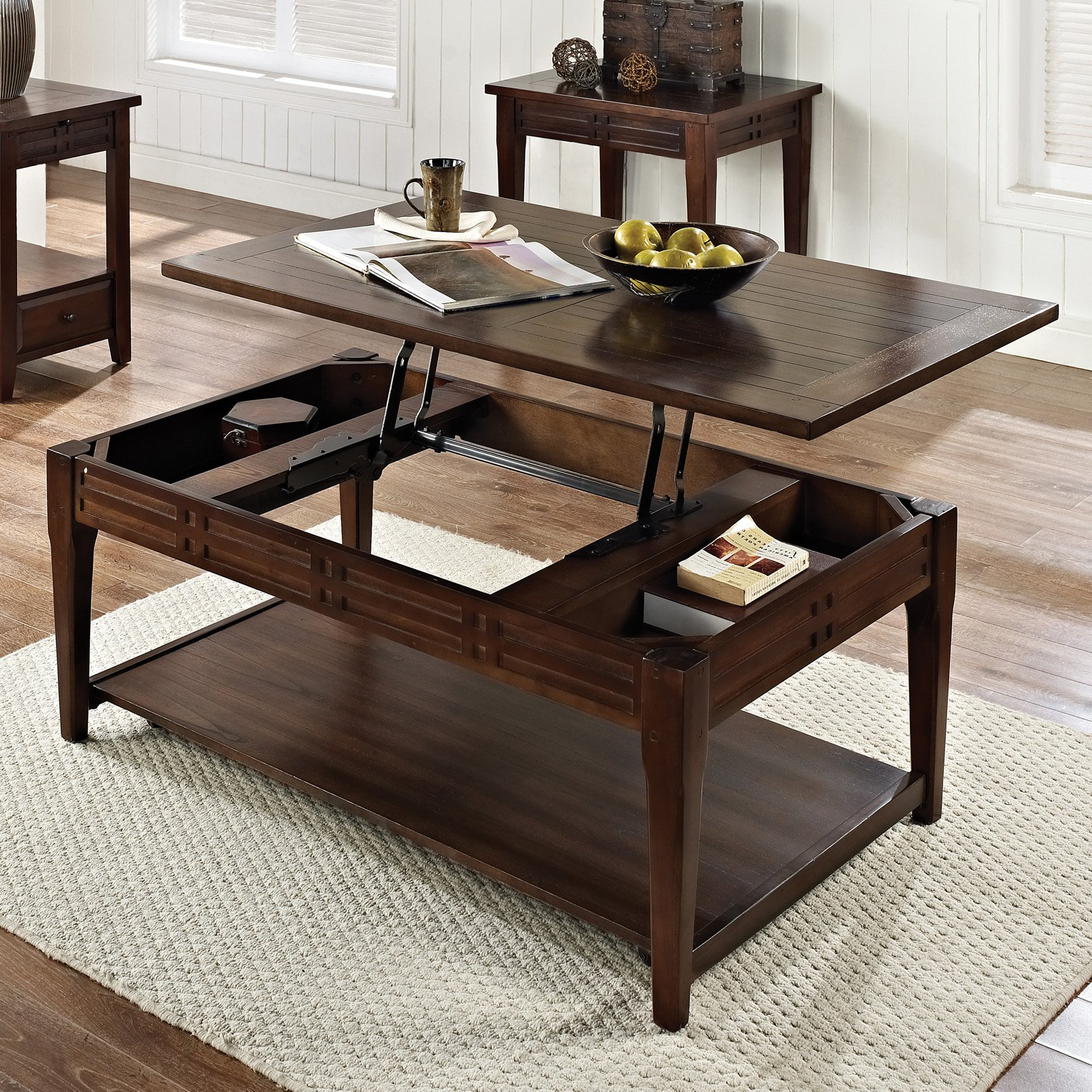 Crestline Lift Top Cocktail Table W/casters – Walmart Within Favorite Shelter Cocktail Tables (View 13 of 20)