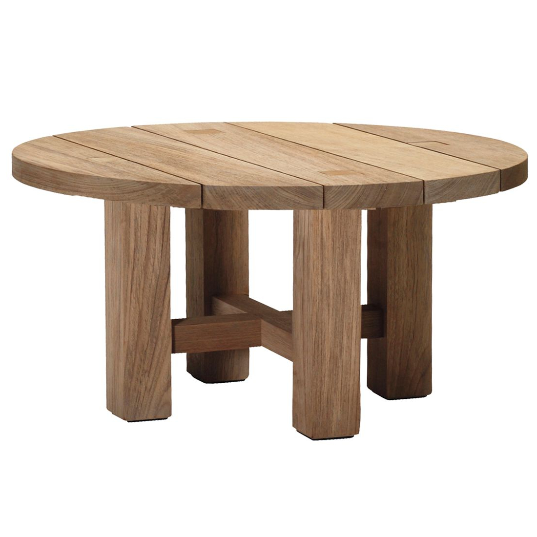 Croquet Outdoor Teak Coffee Table Within Trendy Round Teak Coffee Tables (View 15 of 20)