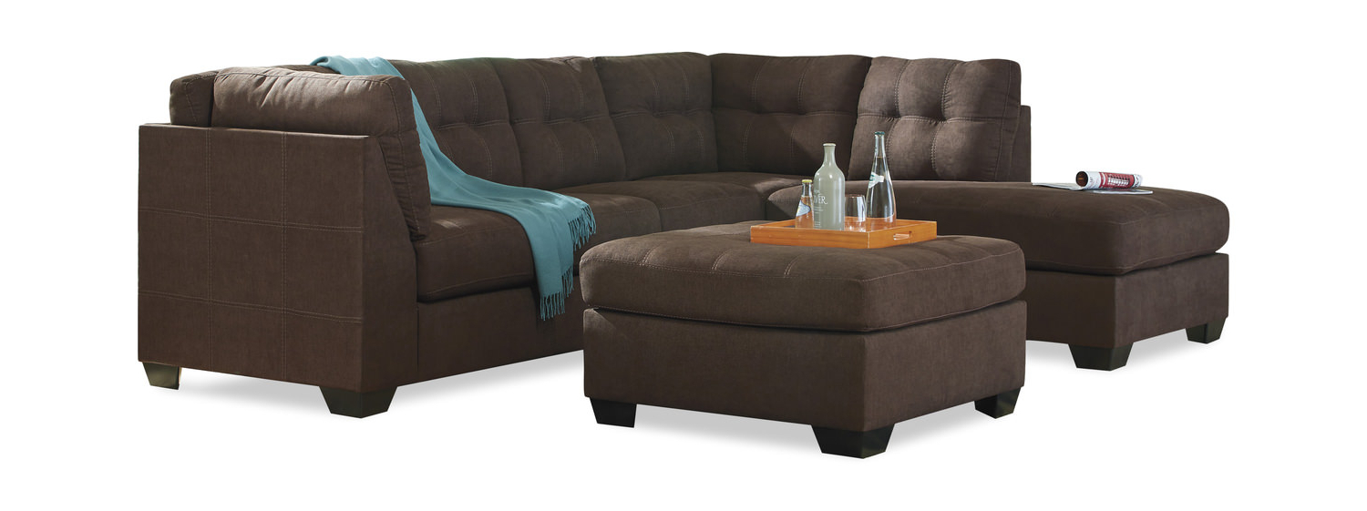 "Crosby 2 Piece Modular Sectional ""Walnut"" (Gallery 19 of 20)"