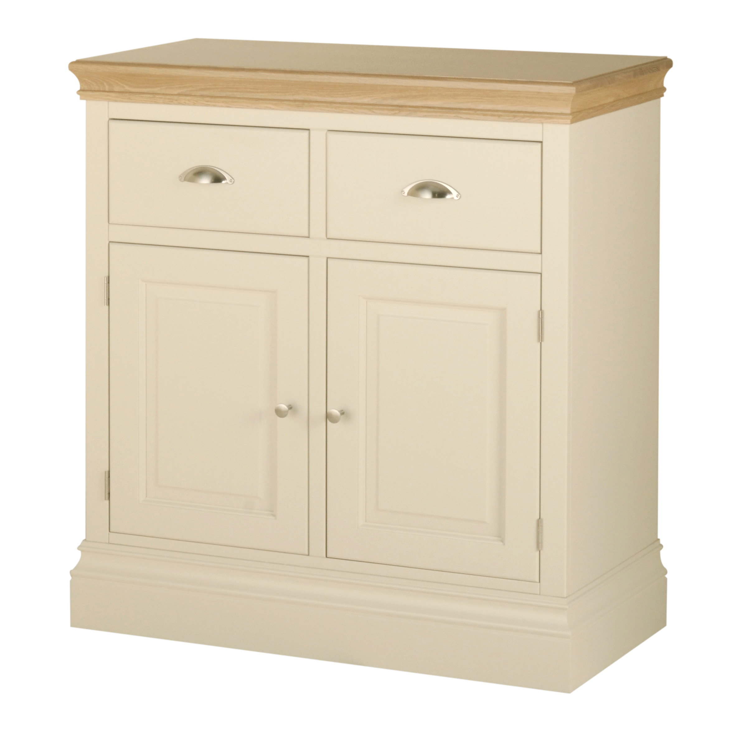 Current 2 Drawer Sideboards Regarding Buttermere Painted 2 Drawer Sideboard – Cumbria Oak (Gallery 3 of 20)