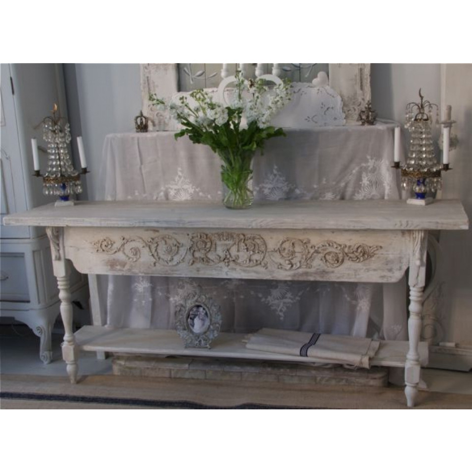 Current 6 Foot Grey Handmade Bespoke Server Table Intended For Limewash Coffee Tables (View 15 of 20)