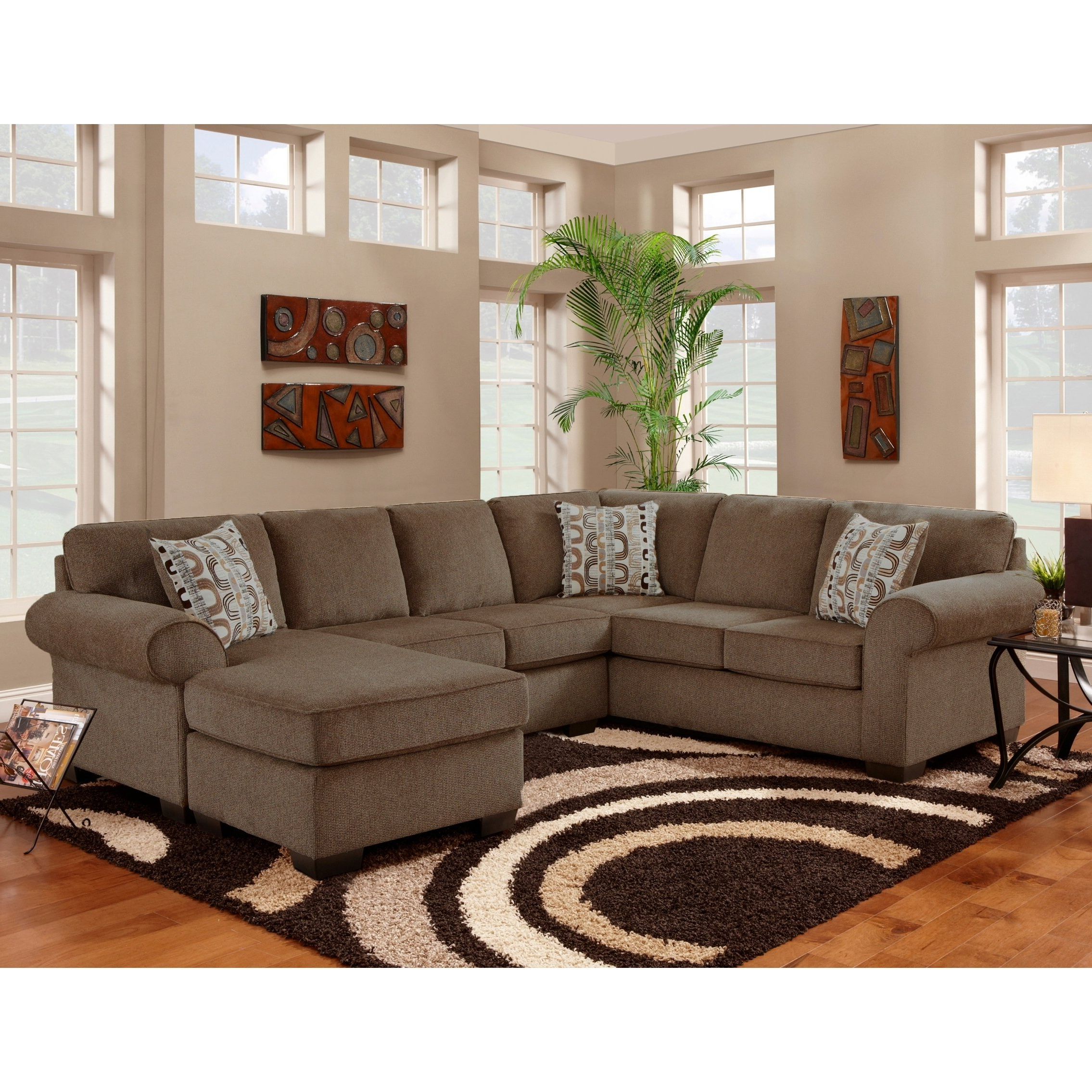 Current Alder 4 Piece Sectionals Inside Shop Clay Alder Home Chase Cobra Cocoa Sectional – Free Shipping (View 5 of 20)