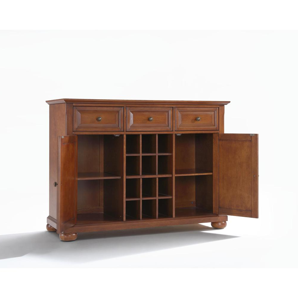 Current Alexandria Buffet Server / Sideboard Cabinet With Wine Storage In With Regard To Amos Buffet Sideboards (View 4 of 20)