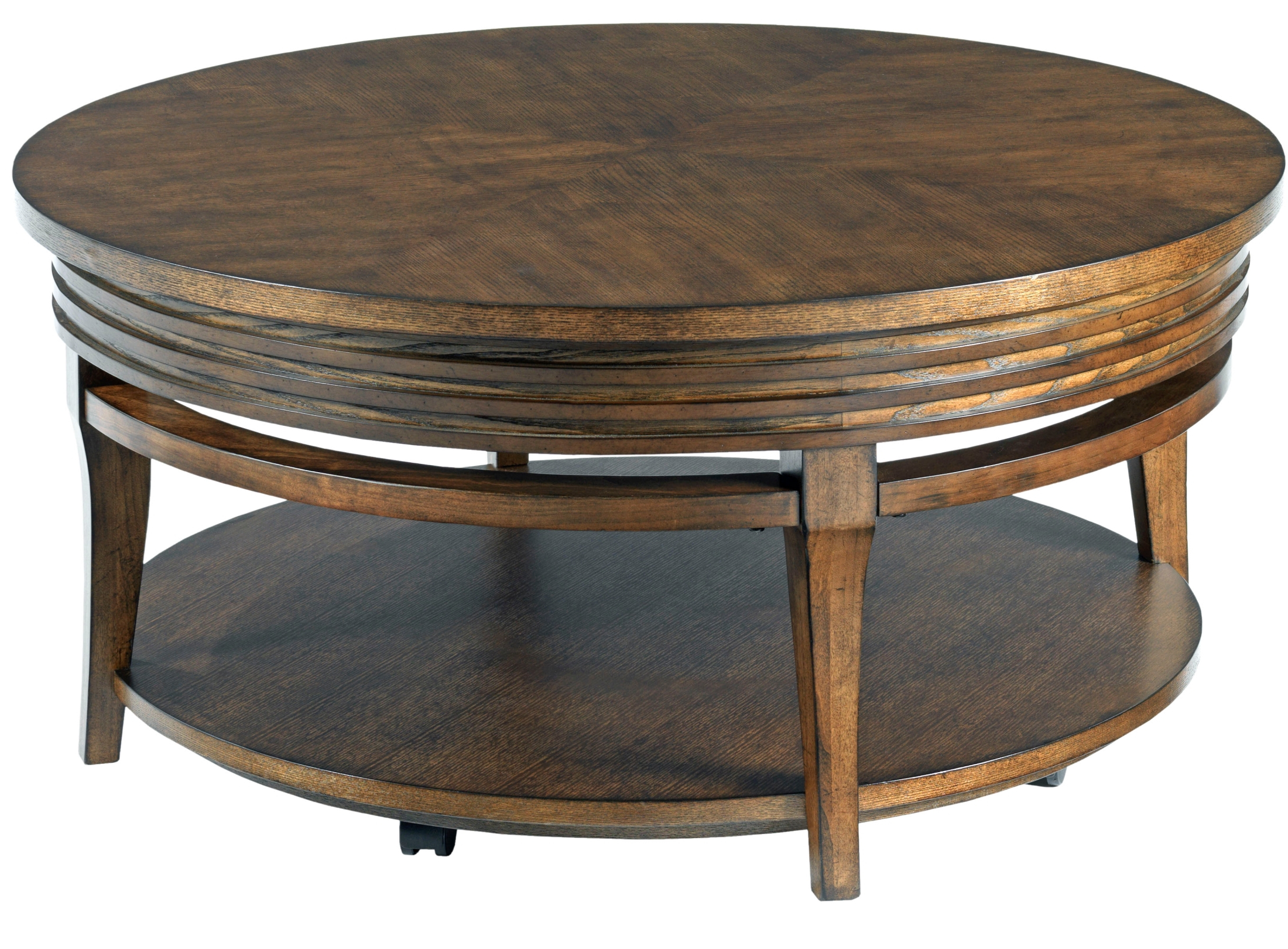 Current Alton Cocktail Tables Pertaining To Alton Pie Shaped Casters Cocktail Table From Magnussen Home (T (View 11 of 20)