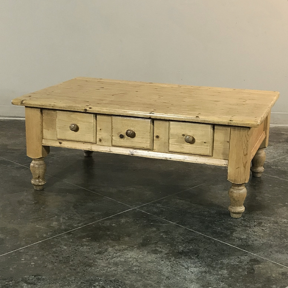 Current Antique Country French Pine Coffee Table Pertaining To Antique Pine Coffee Tables (View 17 of 20)