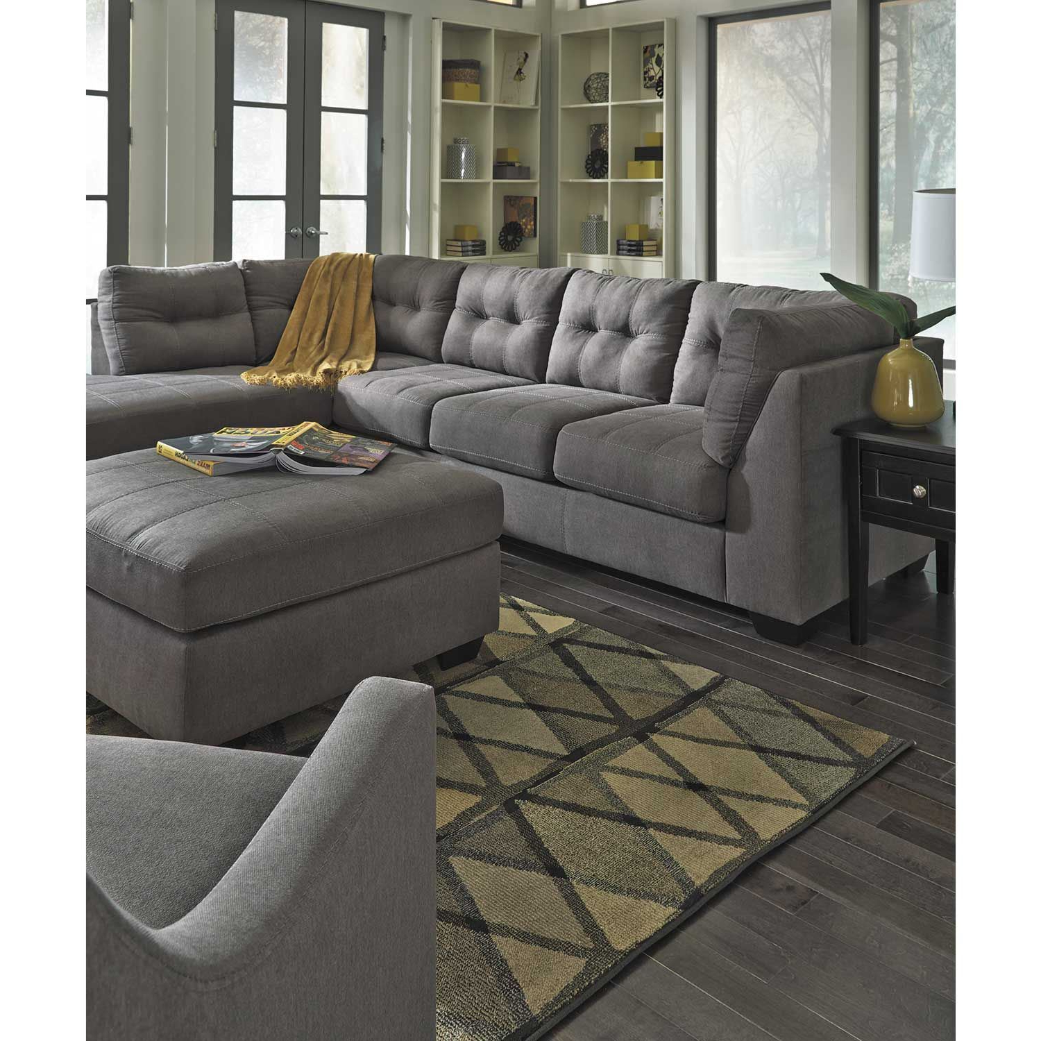 Current Arrowmask 2 Piece Sectionals With Laf Chaise Inside Maier Charcoal 2 Piece Sectional With Laf Chaise (Gallery 17 of 20)